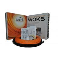 Тонкий  двужильный нагревательный  кабель Woks-10, 150 Вт (16 м/п; 321 Ом)