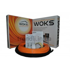 Тонкий двужильный нагревательный кабель Woks-10, 600 Вт (64 м/п; 80,8 Ом)
