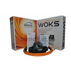 Двужильный толстый кабель в стяжку Woks-17, 1500 Вт (90 м/п; 33,3 Ом)