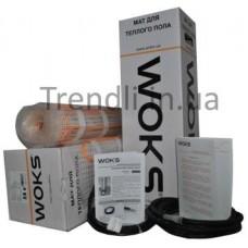 Электрический теплый пол WoksMat  мощн. 160 Вт/6,00 м2 (ширина 0,5м; длина 12м)